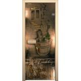 Дверь для бани и сауны Парилка Бронза тонированное