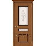 Межкомнатные двери с шпоном файн-лайн Стиль Ф-11 (Орех) худ