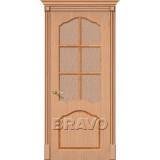 Межкомнатные двери с шпоном файн-лайн Каролина Ф-01 (Дуб)