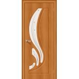 Межкомнатная виниловая дверь Лотос-2 Milano Vero/Art Glass