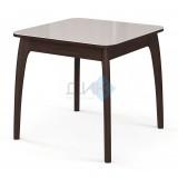Стол №45 ДН4, венге/стекло белое, вставка- белая