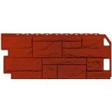 Фасадная панель FineBer Камень природный красно-коричневый