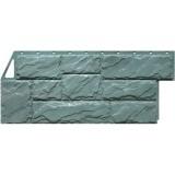 Фасадная панель FineBer Камень крупный серо-зеленый