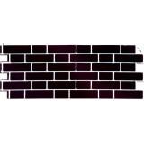 Фасадная панель FineBer Облицовочный кирпич Britt Честер (черно-коричневый)
