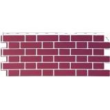 Фасадная панель FineBer Облицовочный кирпич Britt Йорк(темно-розовый)