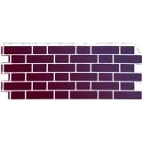 Фасадная панель FineBer Облицовочный кирпич Britt Рединг (бордовый)