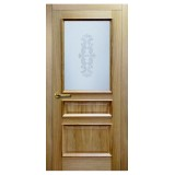 Двери Matadoor Aries Recto-V1 натуральный дуб одно верхнее стекло