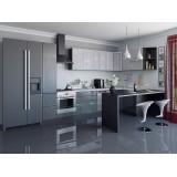 Кухня Валерия-М-05 Серый металлик дождь/Черный металлик дождь