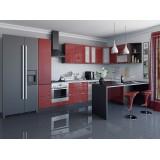 Кухня Валерия-М-05 Гранатовый металлик