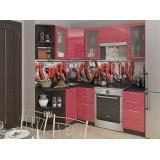 Кухня Валерия-М-04 Красный глянец страйп