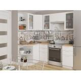 Кухня Валерия-М-04 Белый металлик