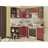 Кухня Валерия-М-04 Бордовый глянец