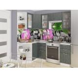 Кухня Валерия-М-04 Черный металлик дождь