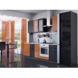 Кухня Валерия-М-03 Оранжевый глянец/Венге