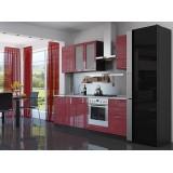Кухня Валерия-М-03 Красный глянец страйп