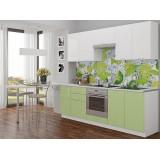 Кухня Валерия-М-02 Белый глянец/Салатовый глянец