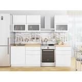 Кухня Валерия-М-01 Белый металлик