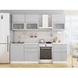 Кухня Валерия-М-01 Серый металлик дождь