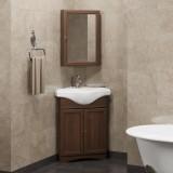 Мебель для ванной Клио 45 угловой правый Орех антикварный Opadiris