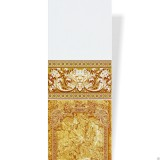Панель ПВХ Акватон Фриз - Лев 102 золото
