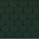 Гибкая черепица Roofshield Фемили Лайт Готик Зеленый