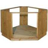 Шкаф-стол угловой под плиту Волшебная сосна 105х82х105 ПЛ 39