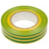 Изолента ПВХ Желто - зеленая 15мм 20 метров