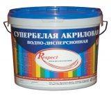 Краска Гермес RESPECT Акриловая Супербелая 14 кг