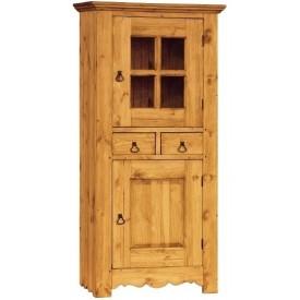 Шкаф для посуды Гранд ОМД со стеклом Волшебная сосна GD.HOM.DEB.V