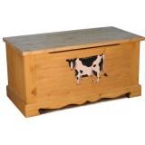 Сундук с росписью Корова большая Волшебная сосна COFFRE 100 paint Vache